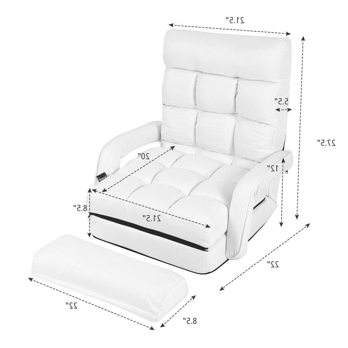 Floor Bed With Massage Pillow Recliner Sofa Foldable Couch New