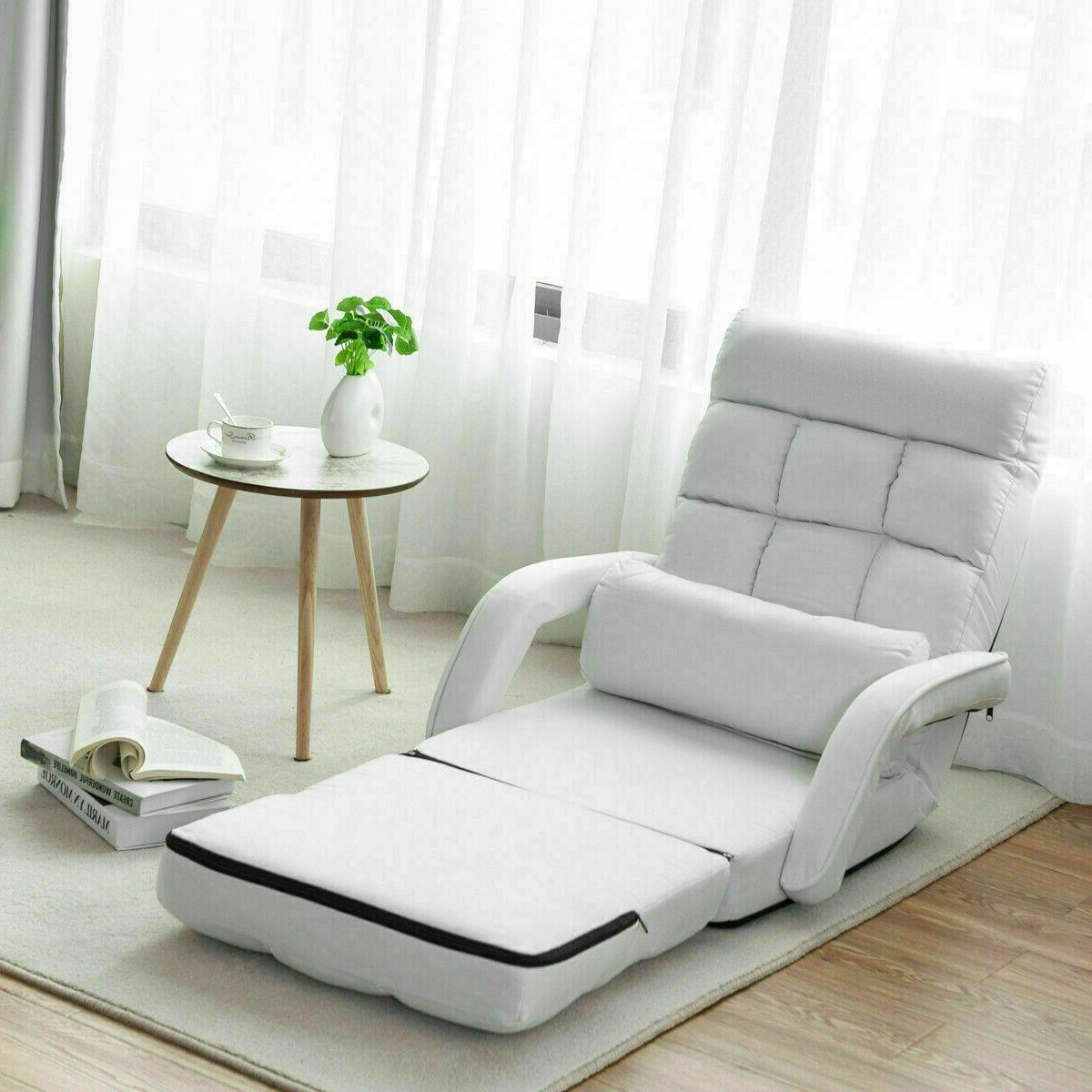 Floor Convertible Bed With Massage Pillow Sofa