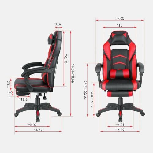 Gaming Office Height Recliner Footrest