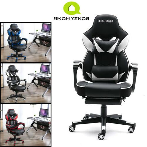 Gaming Racing Style Leather Seat Swivel