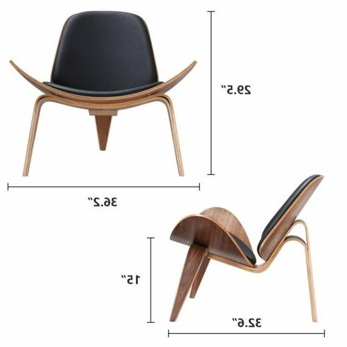 Megan Modern Shell Chair with Bentwood