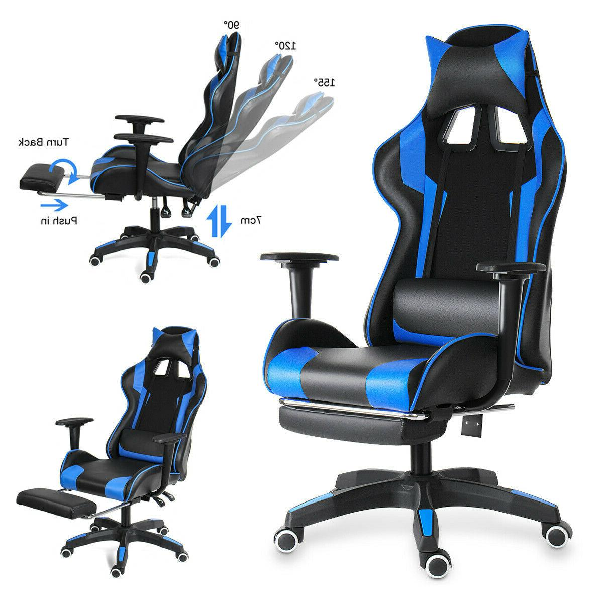 Office Chair Reclining High Back Leather Computer Racing Gam