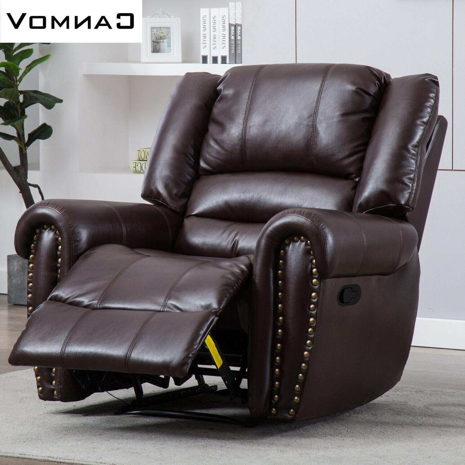 Leather Recliner Chair Living Lounge Overstuffed