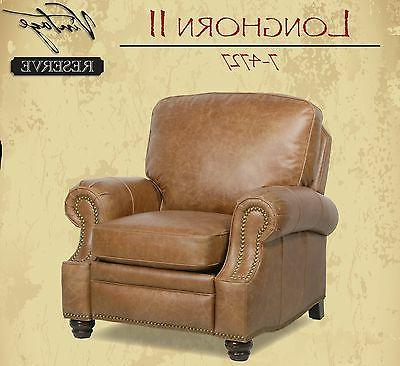 NEW Barcalounger Longhorn Chaps Leather Recline