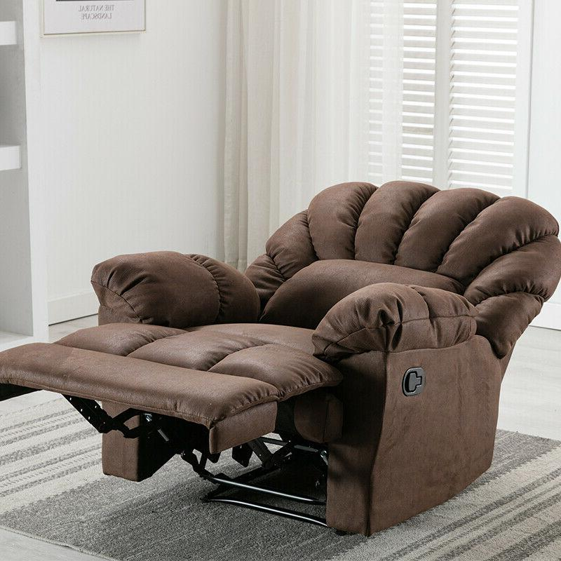 Manual Sofa Living Room Soft Brown