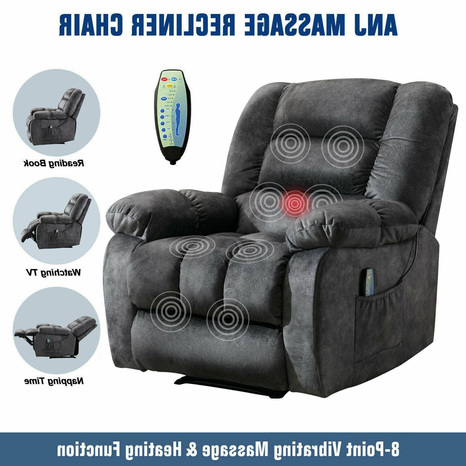 massage recliner chair with heat and vibration