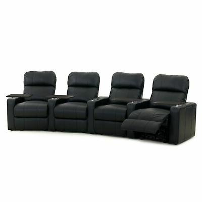 Octane Turbo XL700 Manual Leather Home Theater Seating Set B