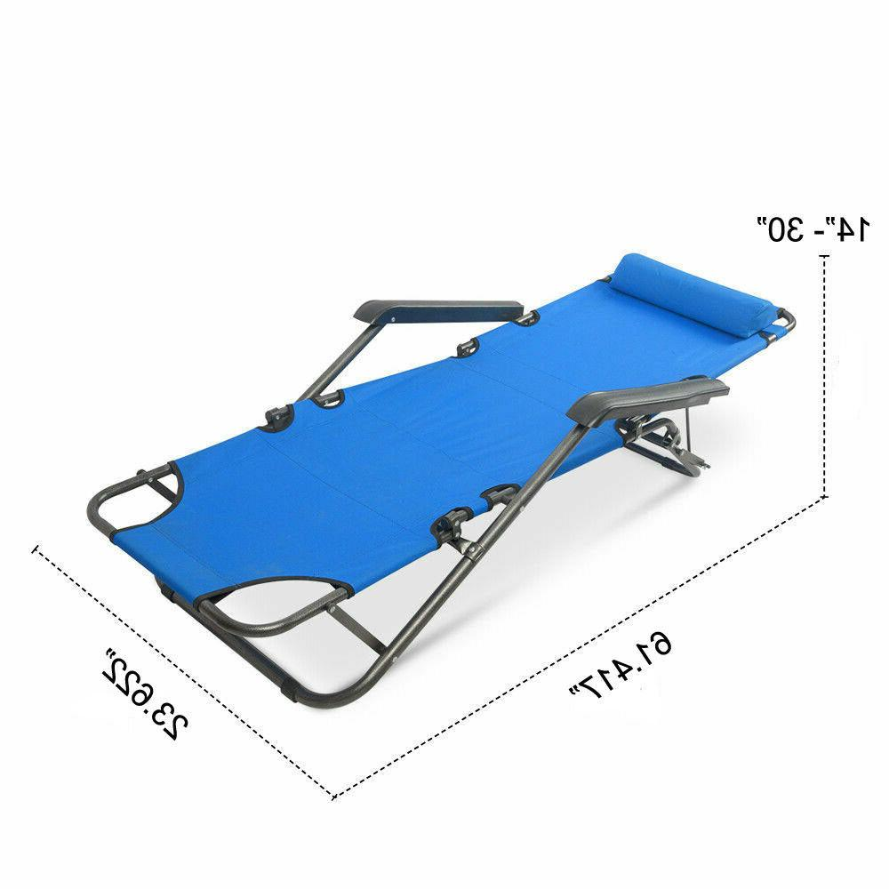 Folding Sun Patio Chaise Outdoor Pool Lounger