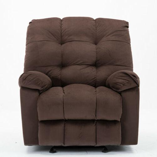 Large Size Glider Recliner Sofa Wide Seat