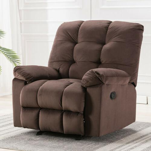 Large Recliner Manual Sofa Padded Wide