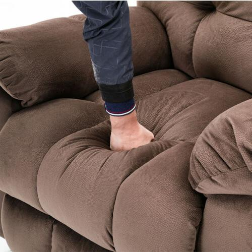 Large Size Recliner Sofa Padded Seat