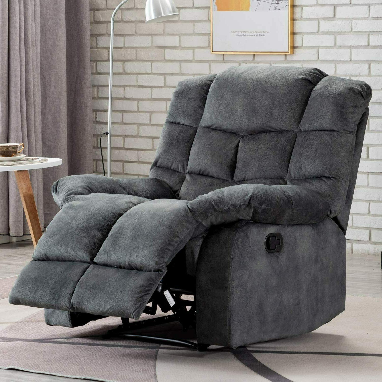 Overstuffed Manual Single Couch Sofa Thickened Back