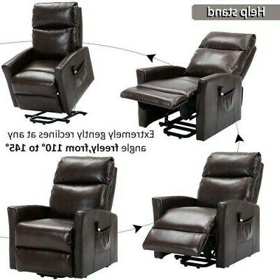 Power Lift Chair Sofa Armrest Lounge Room Brown