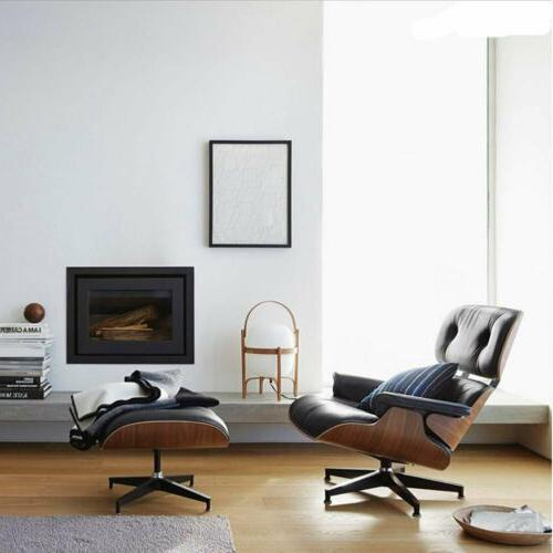 Premium Eames Chair and Italian Leather Black