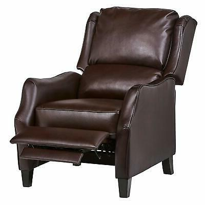 """Ravenna Home Push Faux Leather 29.9""""W, Brown"""