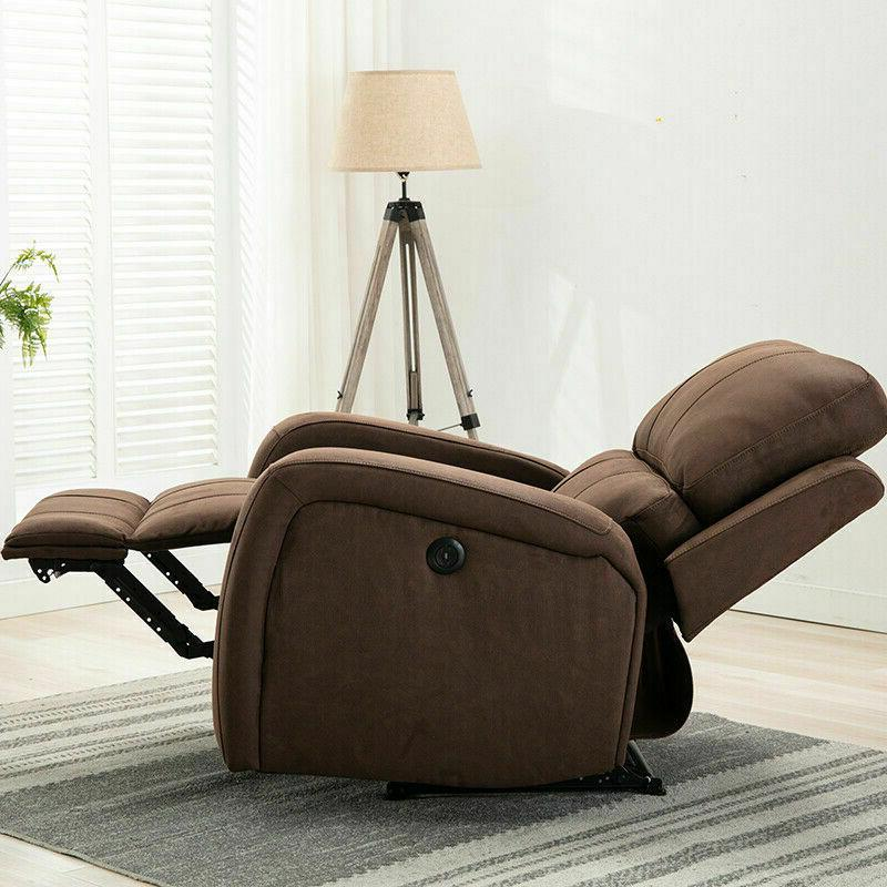 RECLINER USB PORT ARMCHAIR FURNITURE PADDED NEW