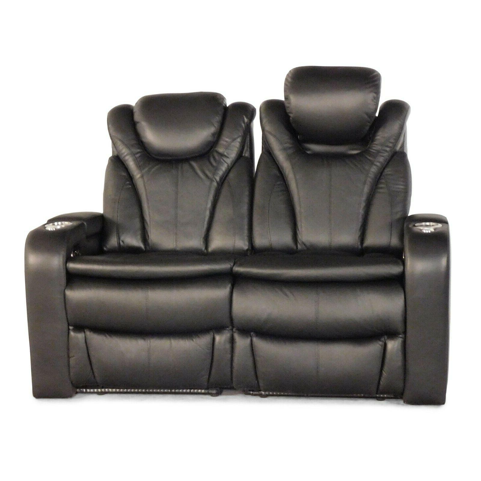 solaris black home theater seating chairs recliners