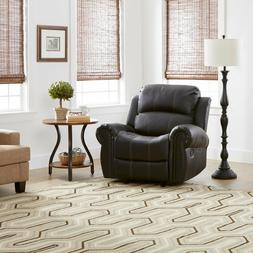 Leather Glider Recliner Club Chair by Christopher Knight Hom