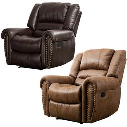 Leather Recliner Chair Contemporary Home Theater Seating Sin