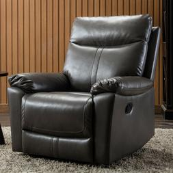Leather Recliner Chair Living Room Padded Durable Ergonomic