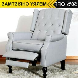 Leather Recliner Chair Wingback Accent Club Chair for Living