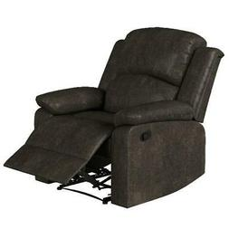 Lifestyle Solutions Reynolds Manual Recliner Faux Suede, Esp