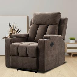Manual Recliner Chair Living Room Theater Recliner with Cup