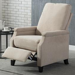 Manual Recliner Sofa Chair Modern Linen Track Arm Push Back