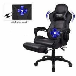 massage gaming chair computer desk racing rocker