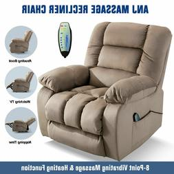 Massage Recliner Chair With Massage Heat And Vibration W/RC