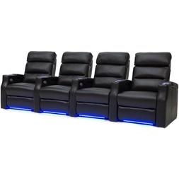 Barcalounger Matrix Home Theater Seating Black Leather Row o