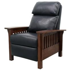 BarcaLounger Mission Leather Push Back Manual Recliner Chair