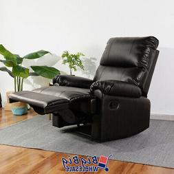 Modern Leather Recliner Chair Manual Couch Single Reclining