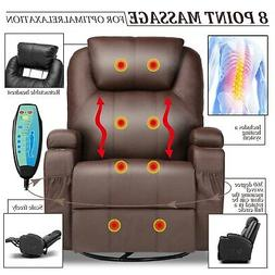 Modern Leather Sofa Massage Recliner Chair Couch Heated Livi