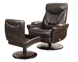 New Barcalounger Cinna 8028 Chestnut Leather Pedestal Reclin