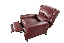 genuine pushback top grain leather recliner lounge