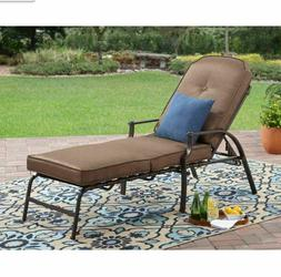 Outdoor Chaise Lounge Chair Adjustable Reclining Patio Seati