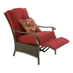 Outdoor Wicker Recliner Patio Reclining Cushion Rattan Chair
