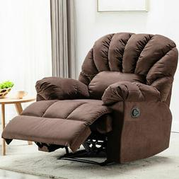 Oversize Manual Recliner Chair Overstuffed Armrest Padded Lo