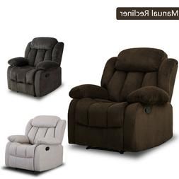 "Overstuffed Manual Recliner Chair 23""W Padded Seat Living Ro"