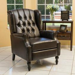 Overstuffed Manual Recliner Chair Padded Seat Living Room Lo