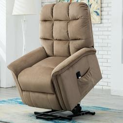 Overstuffed Recliner Chair Bonded Leather Armchair Sofa Thic