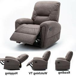 Overstuffed Recliner Chair Fabric Manual Sofa Padded Back Ar