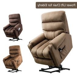 "Power Lift Recliner Chair 20""W Padded Seat Reclining Couch S"