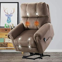 Power Massage Lift Recliner Chair With Heat & Vibration Fabr