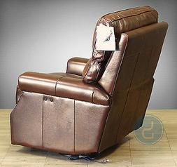 Barcalounger Power Top Grain leather recliner Wall Hugger Lo