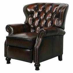 Barcalounger Presidential II Leather Power Recliner Nailhead