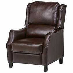push back faux wingback leather recliner 29