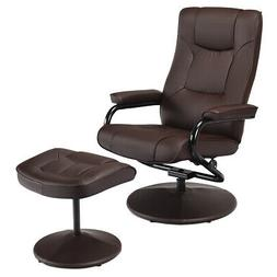 Recliner Chair Swivel Armchair Lounge Seat w/ Footrest Stool