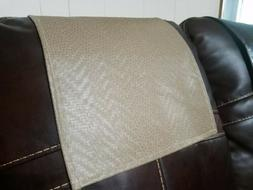 Recliner Headrest Cover Furniture Protector 14wx30L Beige Pa